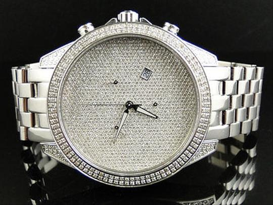 Other Mens Arctica Glory Genuine Full Diamond Illusion Dial Watch 2.2 Ct Image 5