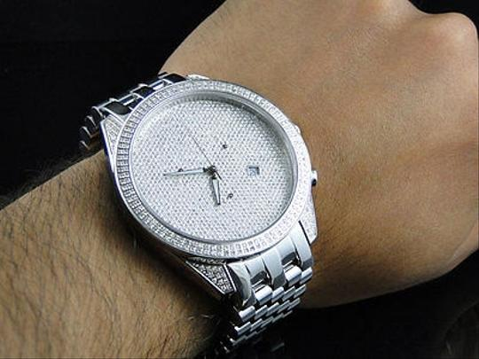 Other Mens Arctica Glory Genuine Full Diamond Illusion Dial Watch 2.2 Ct Image 7
