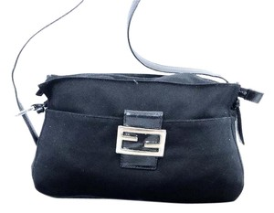 Fendi Leather Nylon Handbag Shoulder Bag