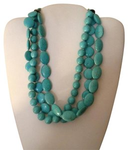 Anthropologie Chunky Organic Turquoise Necklace