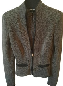 Giorgio Armani Vintage Luxury Greyish/Green and Black Blazer