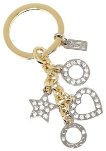 Coach COACH F62502 OPEN HEART KEY RING SILVER/GOLD