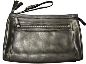 Coach New Leather Black Clutch