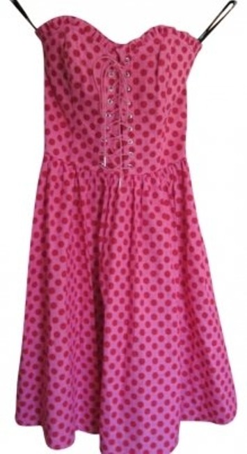 Preload https://item5.tradesy.com/images/betsey-johnson-pink-with-red-polka-dots-sale-above-knee-short-casual-dress-size-4-s-188129-0-0.jpg?width=400&height=650