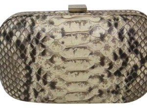Bottega Veneta Black/Brown/White/Tan Clutch
