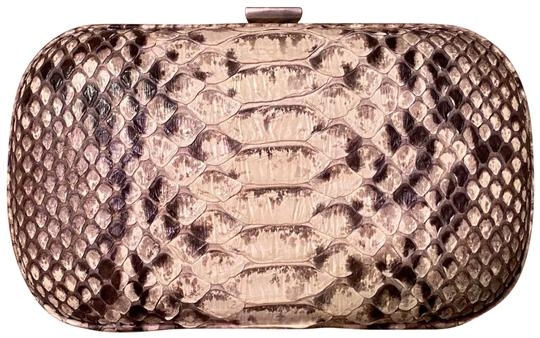 Bottega Veneta Black/Brown/White/Tan Snakeskin Clutch Image 0