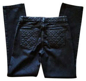 Chanel Cc Quilted Skinny Jeans-Coated