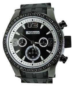 Other Mens Jojo Jojino Joe Rodeo Black Diamond Rubber Band Watch Ct