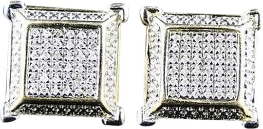 Other Ladiesmen,Yellow,Finish,3d,Square,Diamond,Stud,Earring