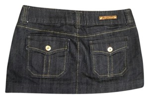Guess Gold Hardware Mini Mini Skirt Navy, Dark wash Denim