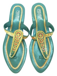 Other Ethnic Indian Teal and Gold Sandals