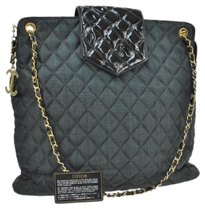 Chanel Quilted Shopping Tote in black