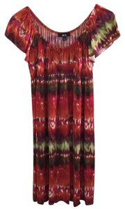 BCX short dress Multi-Color Stretchy Tie-dye Ombre Shift Flutter Sleeves on Tradesy