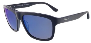 Salvatore Ferragamo Salvatore Ferragamo Blue Rectangular Sunglasses