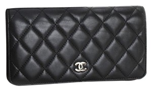 Chanel CHANEL CC Logo Matalasse Quilted Long Wallet with BOX