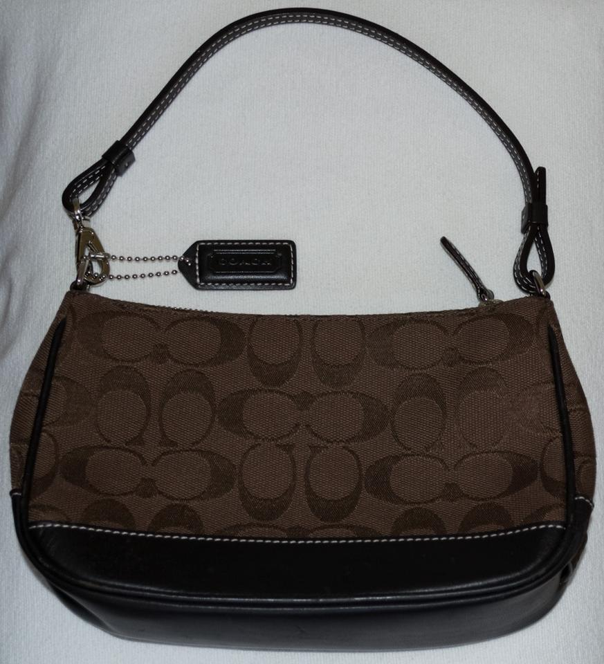 f1bb44d9bc Coach Signature Jacquard Leather Trim Monogram Baguette Image 10.  1234567891011