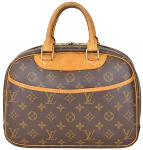 Louis Vuitton Monogram Speedy Boston Trouville Satchel in Brown