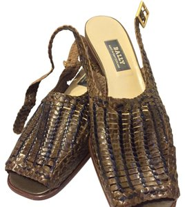 Bally Woven Bottega Veneta Leather Sandals Brown Pumps