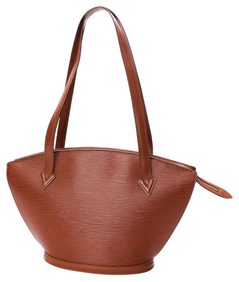 dbb3db4488a3 Louis Vuitton Saint Jacques Fawn Shopping Large Tote Brown Epi Leather  Shoulder Bag