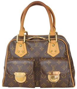 Louis Vuitton Monogram Manhattan Handbag Manhattan Pm Satchel in Brown