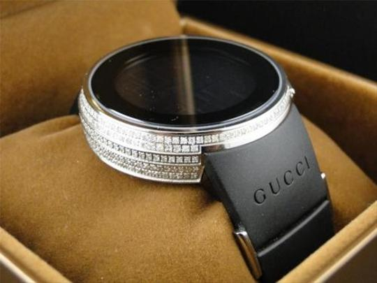 Gucci Custom Full Case Digital Black I Gucci Ya114207 Genuine Diamond Watch Ct