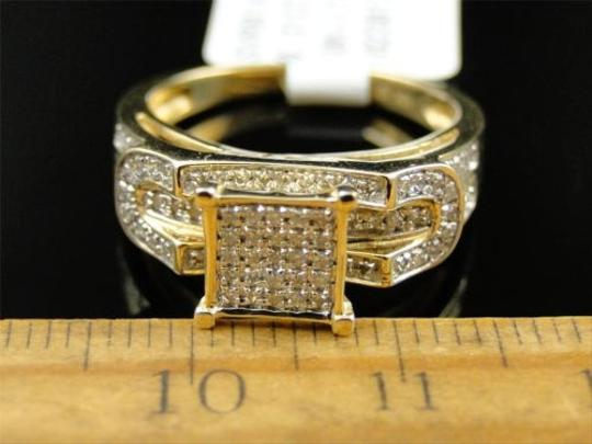 Other Ladies,10k,Yellow,Gold,Pave,Diamond,Engagement,Wedding,Bridal,Fashion,Ring,.31ct