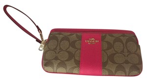 Coach Coach NWT Signature Stripe Double Zip Wallet
