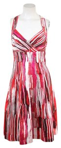 Burgundy, Pink, & Red Maxi Dress by Calvin Klein Cotton Striped