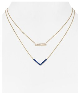 Michael Kors MICHAEL KORS PARISIAN PAVE 2 STRAND NECKLACE MKJ4999 $125 GOLD W BAG