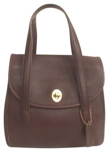 Coach Rare Vintage Leather Satchel in Brown