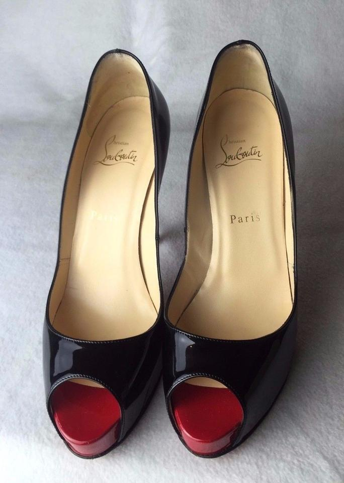 ef64d62b502 Christian Louboutin Black Very Prive 120 Patent Calf Euro 39   Pumps Size  US 9 - Tradesy