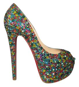 Christian Louboutin Rhinestone Sale Multi Pumps