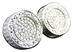 Other Mens,Xl,15,Mm,Dual,Round,Pave,Diamond,Earrings,0.90ct
