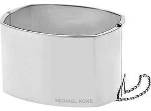 Michael Kors Michael Kors MKJ4853040 Large Square Hinged Silver Bangle Bracelet