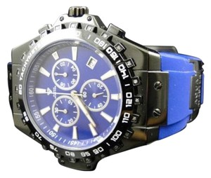 Other Aqua Master Jojo Joe Rodeo Blue Rubber Swiss Signature Diamond Watch Mm