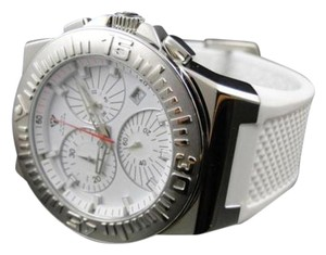 Other Mens Aqua Master Jojo Joe Rodeo White Rubber Swiss Movement Watch 49 Mm