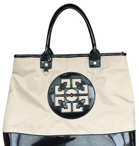 Tory Burch Satchel in Beige & Black