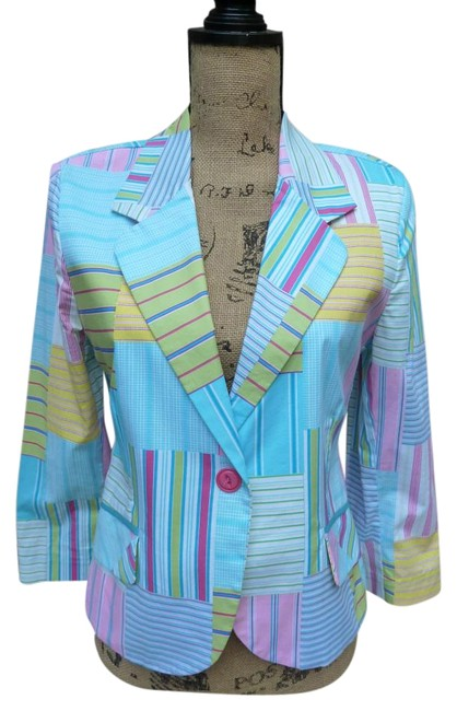 Item - Multi-color 3s175 Plaid Blazer Size 4 (S)