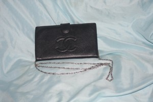 Chanel Reduced CC Black Caviar Wallet with or without cross body chain