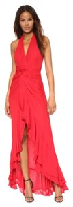 Red Maxi Dress by Parker Black Halter Neck