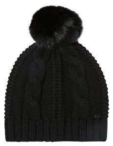 Tory Burch Tory Burch Large Cable knit pom pom hat