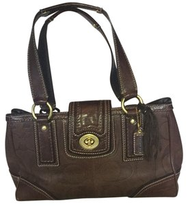 Coach Satchel in Chocolate Brown