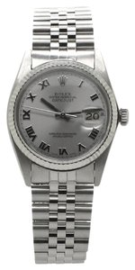 Rolex Men's Rolex DateJust Stainless Steel 36mm Roman Silver dial Watch