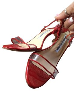 Manolo Blahnik Muluca Slide Red Sandals