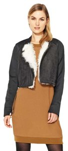 3.1 Phillip Lim Shearling Cropped Baseball Leather Leather Jacket