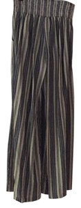 Free People Wide Leg Pants Blue and cream striped