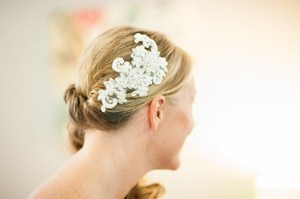 Ivory Lace Headband Bridal Headband Bridal Fascinator Pearls