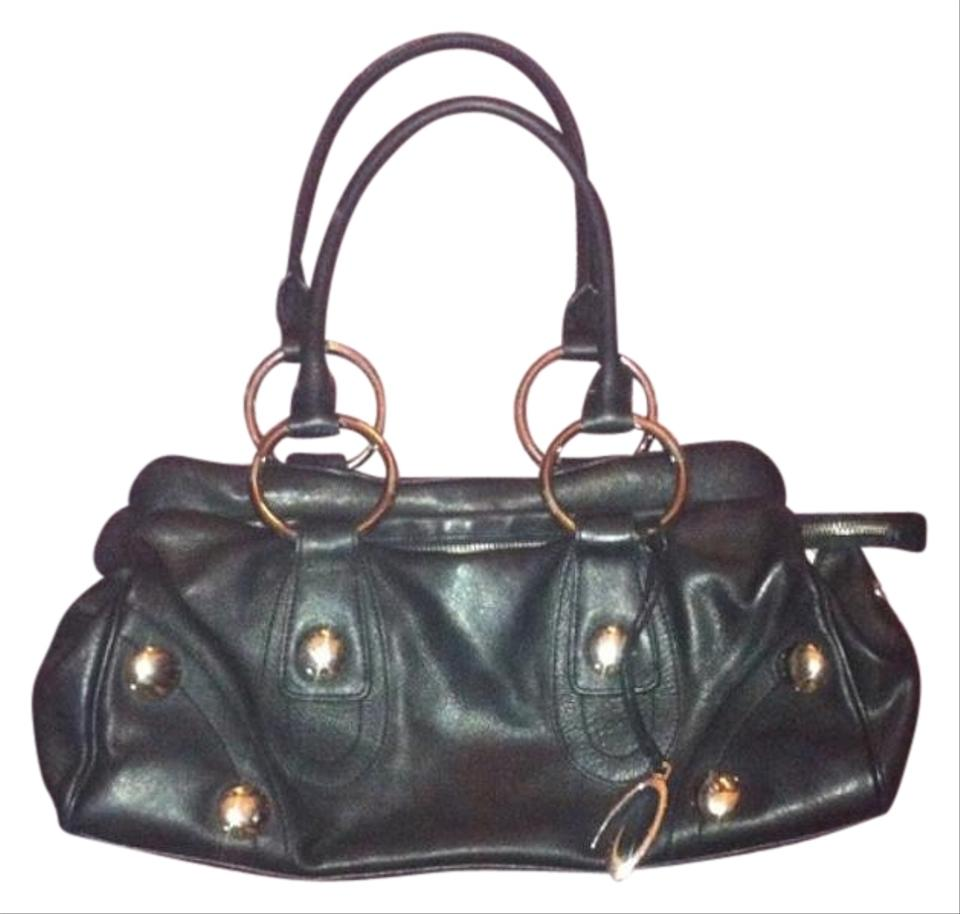 Guess Black Genuine Leather Hobo Bag