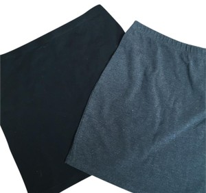 H&M Two For One Basics Mini Skirt Black/gray