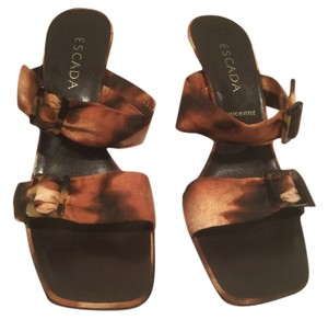 Escada Muli Color Made Italy Multi Sandals